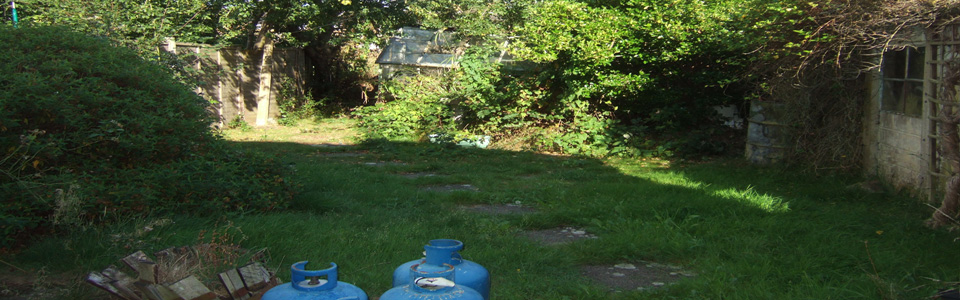 Previous Garden before landscaping work commenced.
